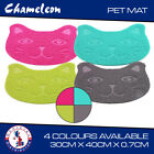 Cat face Litter Tray Mat - PVC - Clean Non-Slip In 4 Colours