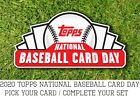 2020 Topps National Baseball Card Day NBCD - Pick Your Card - Free Ship QTY DISCBaseball Cards - 213