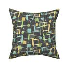 Retro Atomic Midcentury Modern Throw Pillow Cover w Optional Insert by Roostery