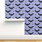 Removable Water-Activated Wallpaper Bat Pastel Bats Halloween Girls Scary