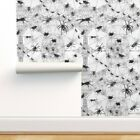 Peel-and-Stick Removable Wallpaper Creepy Crawly Spiders Arachnids Webs