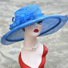 Women Kentucky Derby Wedding Sinamay Wide Brim Church Bridal Mother's Hat T126