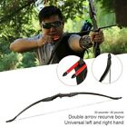 "57"" Straight Bow Archery Recurve Longbow Shooting Fishing Camping 30-40lbs"