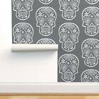 Peel-and-Stick Removable Wallpaper Sugar Skulls Chalkboard Halloween Scary Dia
