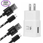 Fast Charger Wall Adapter Type C USB-C Cable For Samsung S10 S9 S8 Note 8 Edge