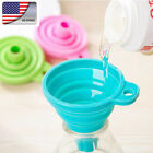 Us Kitchen Mini Funnel Silicone Foldable Gel  New Tool Funnelper Collapsible ^
