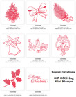 Couture Creations MINI CLEAR STAMPS 'THE GIFT OF GIVING' (Choose from 11) Xmas