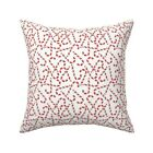Christmas Candy Cane Candy Red Throw Pillow Cover w Optional Insert by Roostery