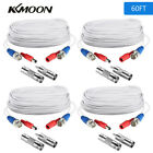 60ft Security Camera Cable DVR CCTV Surveillance BNC Video Power Wire Cord