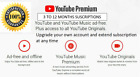 Youtube upgrade own to premium from 3 to 12 months -Worldwide Fast and Easy