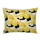 Mountain Hike Yellow Hikers Hiking Art Deco Black And Pillow Sham by Roostery