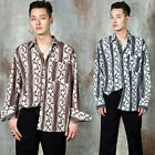 NewStylish Men Snake patterned wide cuff shirts