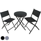 Bistro Set Garden Patio Balcony Outdoor Dining Furniture Table 2 Chairs Seat New