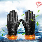 Washable Thermal Leather Gloves Winter Warm Outdoor Indoor Gloves For Men Women