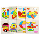 3D Wooden Puzzles Cartoon Transportation Puzzle For Toddler Infant Kids Wood Toy