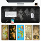 Locking Edge Laptop Computer Old World Map Keyboard Mice Mat Gaming Mouse Pad