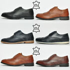 Red Tape REAL LEATHER Brogue Mens Formal Casual Designer Smart Shoes From £9.99