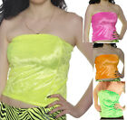 NEON BOOB TUBE 80'S FANCY DRESS TUTU BANDEAU RAVE CYBER HOLIDAY ALTERNATIVE