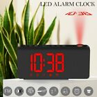 LCD Digital LED Projector Projection Snooze Alarm Clock FM Radio Timer Backlight