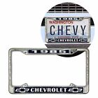 1985 Chevrolet Chrome Dealer License Plate Frame with Chevy Bowtie for Car Truck  for sale