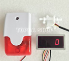 US308MA flow sensor Flow Meter and Alarmer Flow Rate Display 110dB with Light