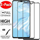 2Pcs For Huawei P40 Pro P30 Lite P20 FULL COVER Tempered Glass Screen Protector
