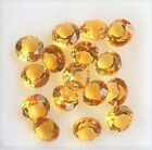 CITRINE YELLOW GEM ROUND CUT GENUINE GEMSTONE NATURAL LOOSE FACETED SMALL NICE