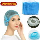 70/100PC Disposable Hair Net Non Woven Bouffant Cap Kitchen Industry Head Cover