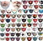 Unisex 3d-print Christmas Funny Face Mask Protective Covering Washable Reusable