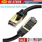 Lot Cat 8 Ethernet RJ45 Cable Patch LAN Network Super Speed 40Gbps Gold Plated
