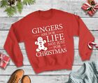 Gingers Are For Life Christmas Jumper - Festive Sweatshirt Funny Xmas Top Party