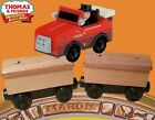 10 NEW UNPAINTED BOX CARS AND WINSTON NEW IN BOX THOMAS & FRIENDS WOODEN RAILWAY