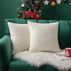 MIULEE Pack of 2 Christmas Decorative Lumbar Throw Pillow Covers Soft Corduroy S