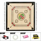 All Carrom Board Size S, M, L,XL Coins & Striker Set Great Quality Family Game