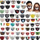 3d Printed Funny Face Mask1 Breathable Washable Mouth Protection Reusable Unisex