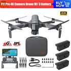 F11 Pro 4K Camera Brushless Wifi FPV GPS Quadcopter 1500m RC Drone W/ 3 Battery