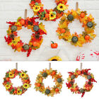 Maple Leaf Pumpkin Wreath Thanksgiving Decoration Door Hanging Halloween Wreath