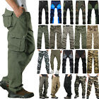 Mens Tactical Army Combat Military Cargo Work Multi Pocket Pants Trouser Outdoor
