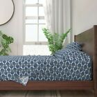 Mod Fish Abstract Tropical Ocean 100% Cotton Sateen Sheet Set by Roostery