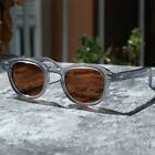 Vintage men's brown polarized lens sunglasses arts crystal clear glasses UV400 M