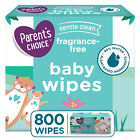 Parent's Choice Fragrance Free Baby Wipes 240, 500, 800, 1200 Count Packs, Soft For Sale