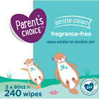 Parent's Choice Fragrance Free Baby Wipes 240, 500, 800, 1200 Count Packs, Soft