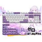 Anime Re Zero Keycap Emilia PBT Cherry Height 131 Keycaps for Cherry MX Keyboard