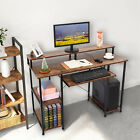 Computer Desk Study Writing Table with Keyboard Tray & Drawers & Shelf Storage