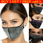 Crystal Bling Reusable Face Mask Rhinestone Glitter Diamante Sparkle Face Cover