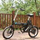 16'' Folding Electric Commuter Bike City Ebike Removable Lithium-Ion Battery US