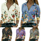 Women Blouse Shirt Top Pullover Long Sleeve Vintage Streetwear V Neck Casual