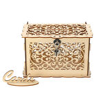 Rustic Wedding Card Box Birthday Party DIY Wooden Gift Case With Lock...