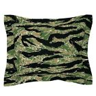Digital Tiger Stripe Camo Pillow Sham by Roostery