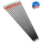 """US 30"""" Carbon Arrows Archery OD7.8mm w/Replaceable Arrowheads For Shooting Hunti"""